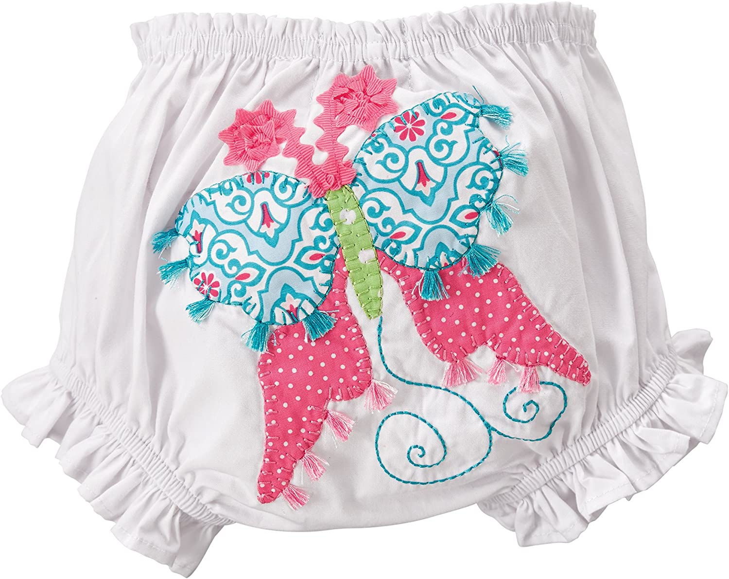 Mud Pie High order Tampa Mall Baby-Girls Butterfly White Bloomers 0-12 Months