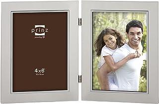 PRINZ 2-Opening Beldon Hinged Metal Frame, 4 by 6-Inch, Silver