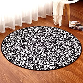 Area Rugs Carpet Personalized Round Rug Coffee Table Bedroom Study Computer Blanket Chair Mat Children's Crawling Blanket ...