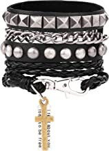 punk rock leather bracelets