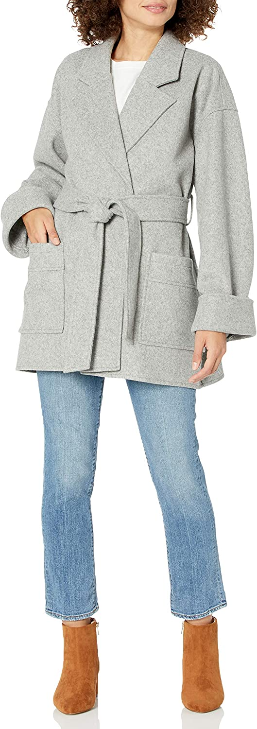The Drop Women's @spreadfashion Classic Belted Jacket: Clothing