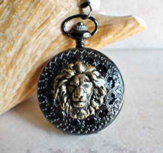 Lion Mechanical Pocket Watch