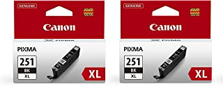 Canon CLI-251XL (Black Ink 2-Pack) in Retail Packaging