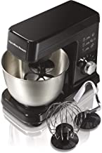 Hamilton Beach 6 Speed Electric Stand Mixer with Stainless Steel 3.5 Quart Bowl,..