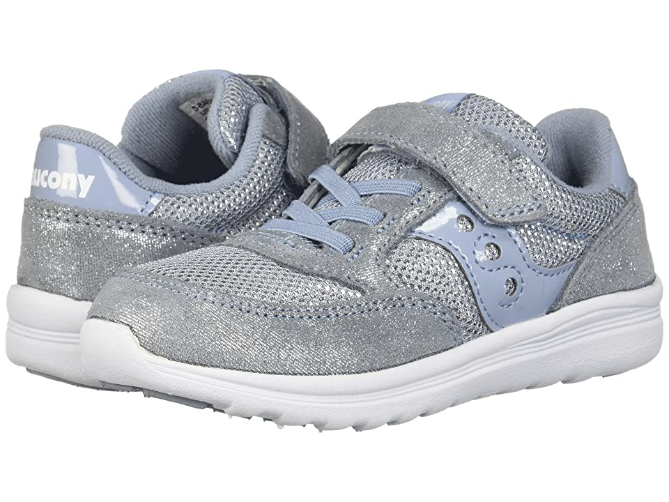 Saucony Kids Originals Jazz Lite (Toddler/Little Kid) (Blue Sparkle) Girls Shoes
