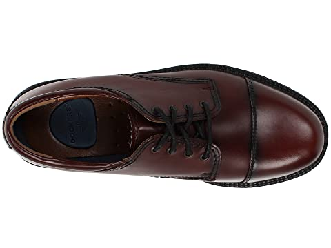 Dockers CordovanBlack Gordon Toe Antiqued Polished Oxford Cap Pwg7FqxrP