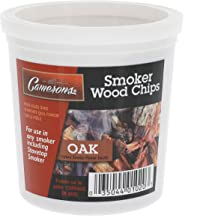 Smoking Chips- (Oak) Kiln Dried, 100 Percent Natural Extra Fine Wood Smoker Sawdust Shavings - 1 Pint Barbecue Chips