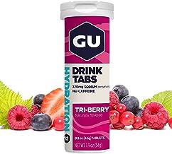 GU BrewA aE A Tri Berry Hydration Drink Tabs Electrolyte Tablets Pack of 12