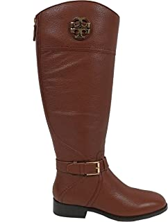 Tory Burch Boots Adeline 20mm Riding Boot Tumbled Leather