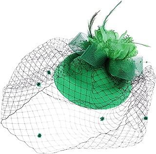 Coolr Fascinators Hair Clip Headband Pillbox Hat Bowler Feather Flower Veil Wedding Party Hat