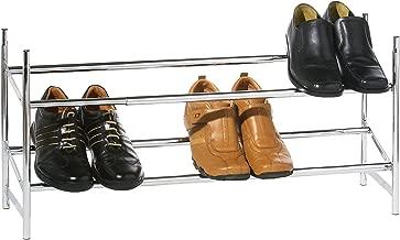 Premier Housewares 2-Tier Extendable Shoe Rack - Silver