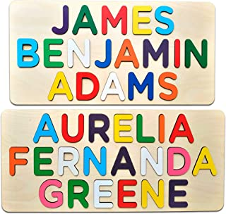 Wooden Three Name Puzzle Learning Educational Toy