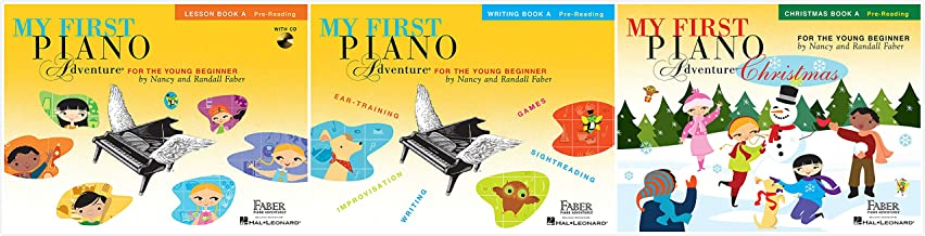 My First Piano Adventure® Book A Set (3 Books) - Lesson Book A, Writing Book A, Christmas Book A