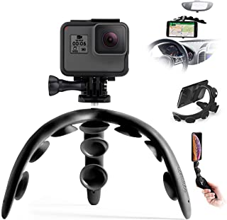 Tenikle 2 Black (Travel) - Flexible Tripod with Suction Cups Compatible with iPhone & Android GoPro Universal Multi-Use Be...