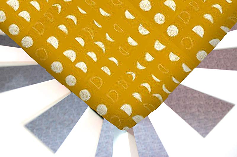 Little Moose By Liza Handmade Sheet Made To Fit A Changing Pad In Lunation Bright Gold Moon Phases