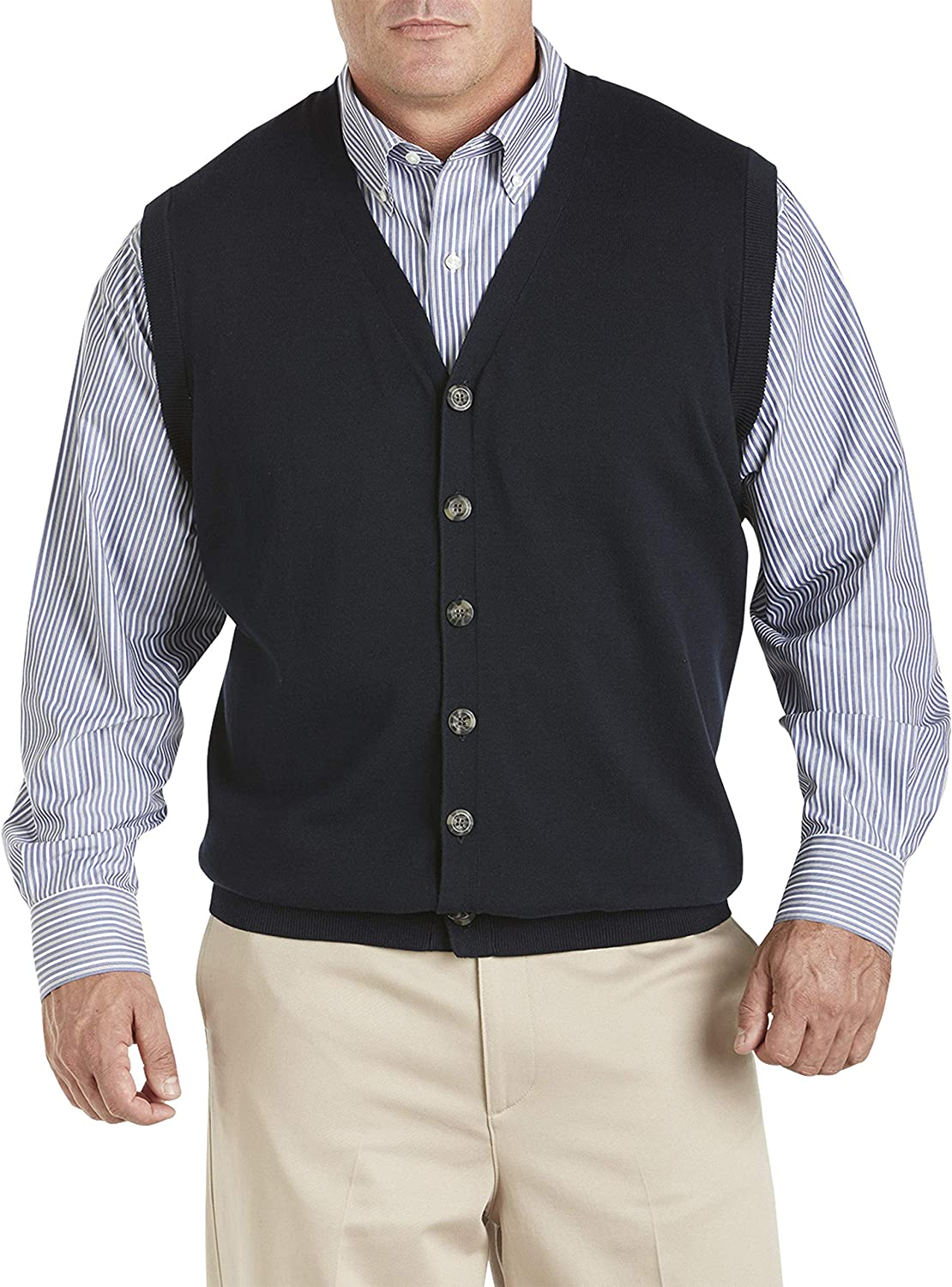 Oak Industry No. 1 Hill by DXL Big Tall Button-Front Sweater and Vest New arrival