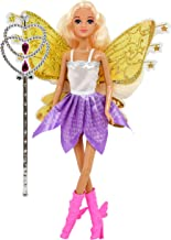 Fairy Princess Doll, Butterfly Rainbow Fairy Tale Fashion Doll with Magic Wand, Wings and Hair for Girls