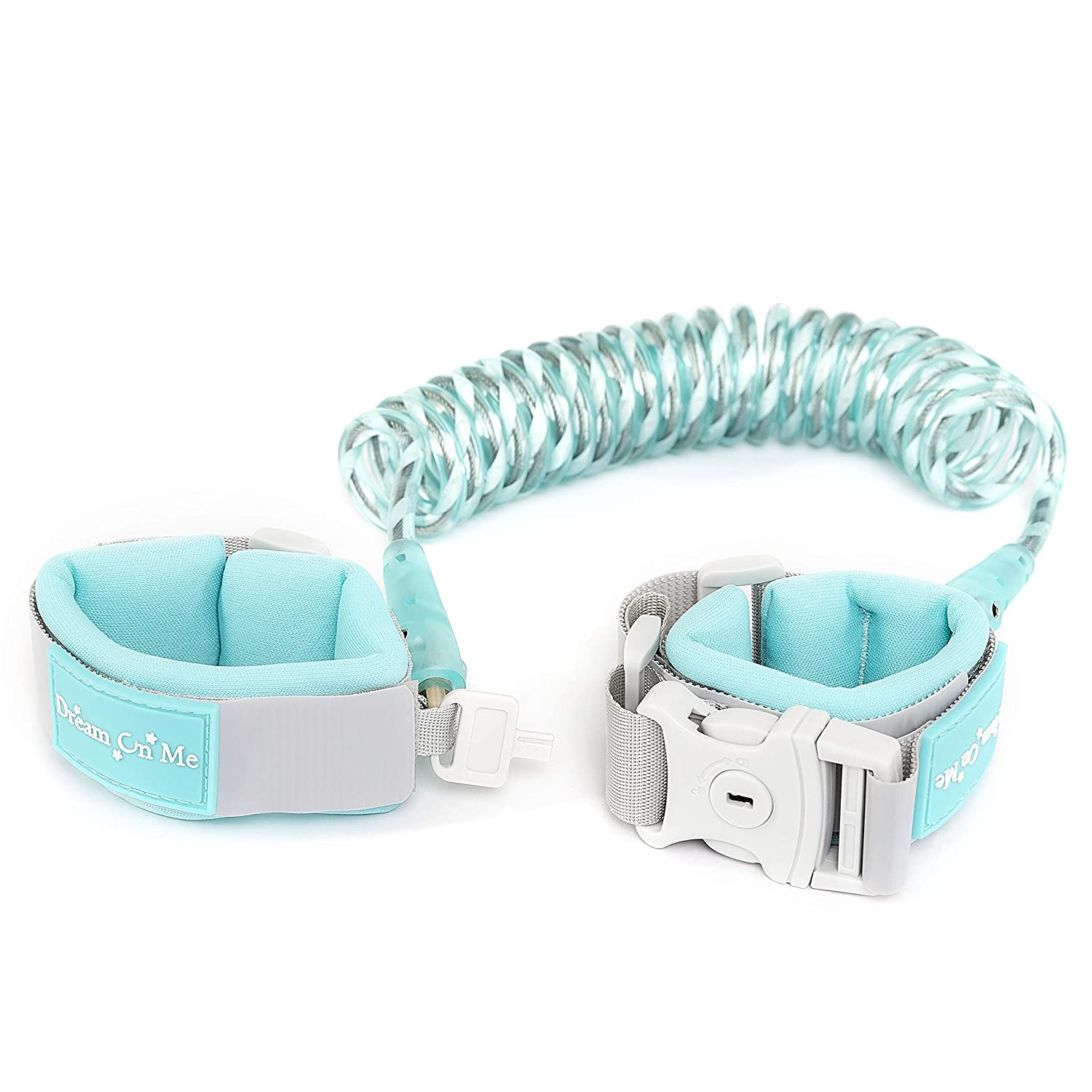 Dream On Me Anti-Lost Wrist Link with Lock & Key in Blue