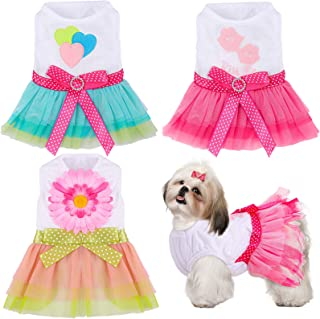 PiniceCore Mode Hund Kleidung-Sommer-Hundekleid Hochzeitskleid-Rock-Hunde Haustier Accessoires Welpen Kleidung Fr/ühling Haustier-Kleidung-M Rosa