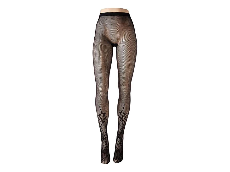 Wolford Wildflower Net Tights (Black) Hose