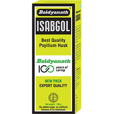 Baidyanath Isabgol - Psyllium Husk Powder made from Premium Isabgol Seeds - 100g (Pack of 3)