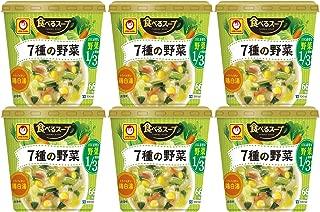 マルちゃん 食べるスープ 7種の野菜鶏白湯 18g ×6個