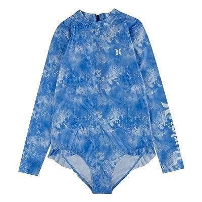 Hurley Kids UPF 50+ Long Sleeve One-Piece Swimsuit (Big Kids)