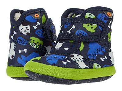 Bogs Kids Elliott II Puppies (Infant/Toddler) (Dark Blue Multi) Kid