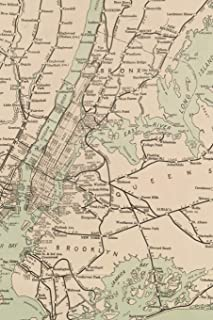 1921 Freight Map of the Metropolitan District of New York and its Vicinity - A Poetose Notebook / Journal / Diary (100 pages/50 sheets) (Poetose Notebooks)