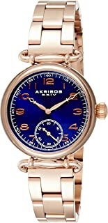Akribos XXIV Women's Ador Analogue Display Japanese Quartz Watch with Stainless Steel Bracelet