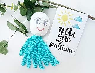 Tags 4 Tots Octoprem Softie Comforting Crochet Octopus for Preemies & Newborns (Turquoise)