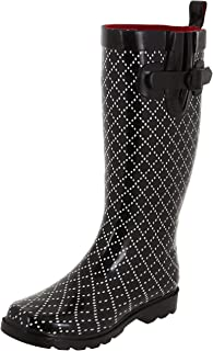 Capelli New York Ladies Shiny Tall Rubber Rain Boots