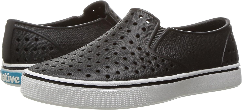 Native Shoes, Miles, Kids Shoe, Jiffy Black/Shell White, 8 M US Toddler