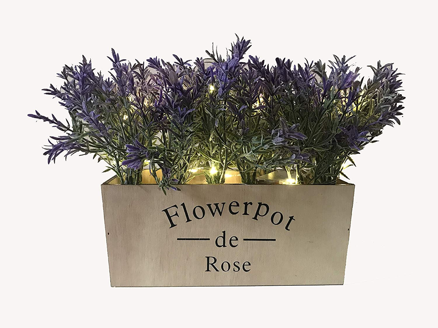 Artificial Flower Lavender Potted Plant with Silk Flower for Home Decor Wedding Garden Office Patio Decoration Table Centerpieces