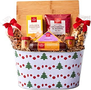 Hickory Farms Christmas Meat & Cheese Gift Basket | Gourmet Food Gift Basket, Great for Snacking, Small Gatherings, Friend...
