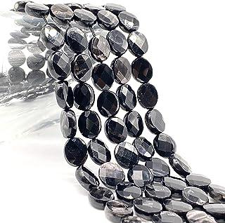 [ABCgems] Quebec Black Aura Hypersthene AKA Magical Stone (Gorgeous Flash- Mohs Hardness 6) Tiny 6X8mm Micro-Faceted Diamo...