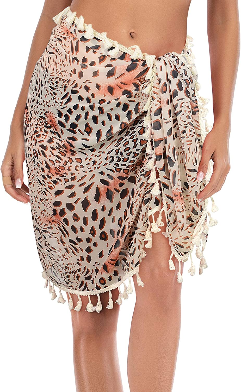 American Trends Sarongs for Women Swim Suit Cover Ups Women Swimsuit Beach Wrap Skirt Bikini Cover Ups