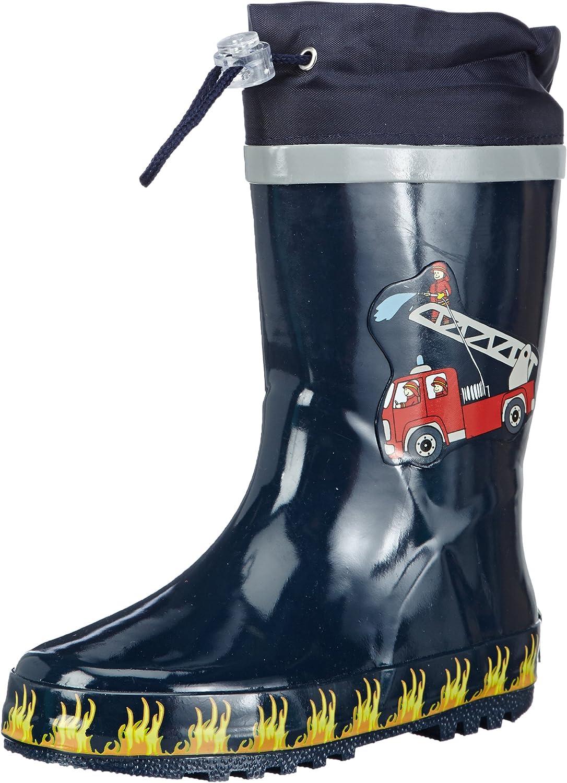 Playshoes Boy's Rain Boot Wellies 通販 Rubber Wellington Truck お買得 Fire