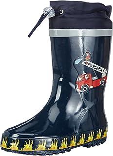 Playshoes Playmobil rubberlaarzen, brandweer, rubberlaarzen voor kinderen