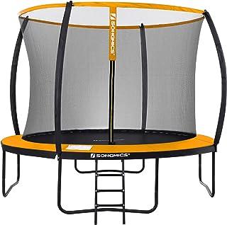 SONGMICS tuintrampoline, 12 ft ronde trampoline met veiligheidsnet, ladder, gewatteerde boogstokken, TÜV Rheinland veiligh...