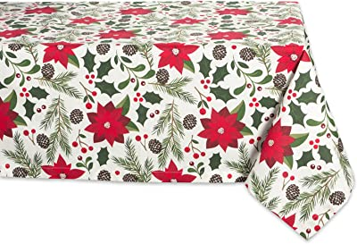DII Woodland Christmas Tabletop Collection, Tablecloth, 52x52
