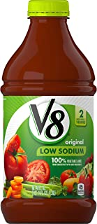 V8 Original Low Sodium 100% Vegetable Juice, 46 oz. Bottle