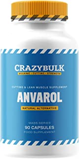 CrazyBulk Anvarol Natural Bodybuilding Supplement for Cutting Cycles, Lean Muscle Retention, Strength and Energy (90 Capsules)