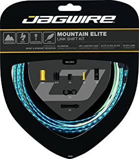 Jagwire Mountain Elite Link Shift Cable Kit for SRAM/Shimano with Ultra-Slick Uncoated Cables, Blue