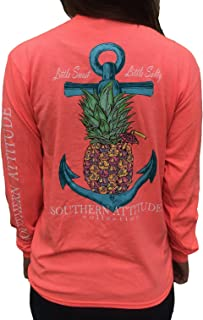 Pineapple Anchor Coral Women's Long Sleeve T-Shirt