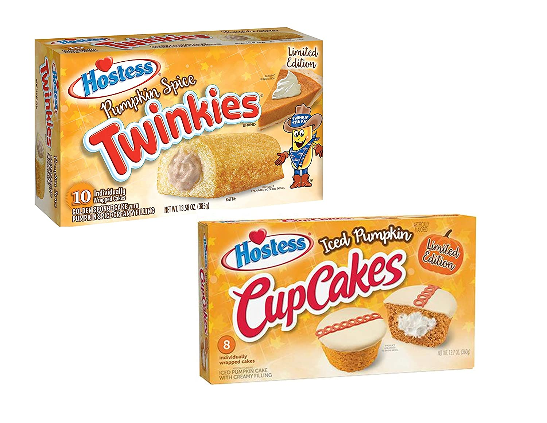 Hostess Pumpkin Spice Twinkies 送料無料 Bundle 現金特価 Iced Cupcakes and