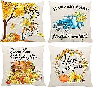 HAJACK Fall Pillow Covers 18