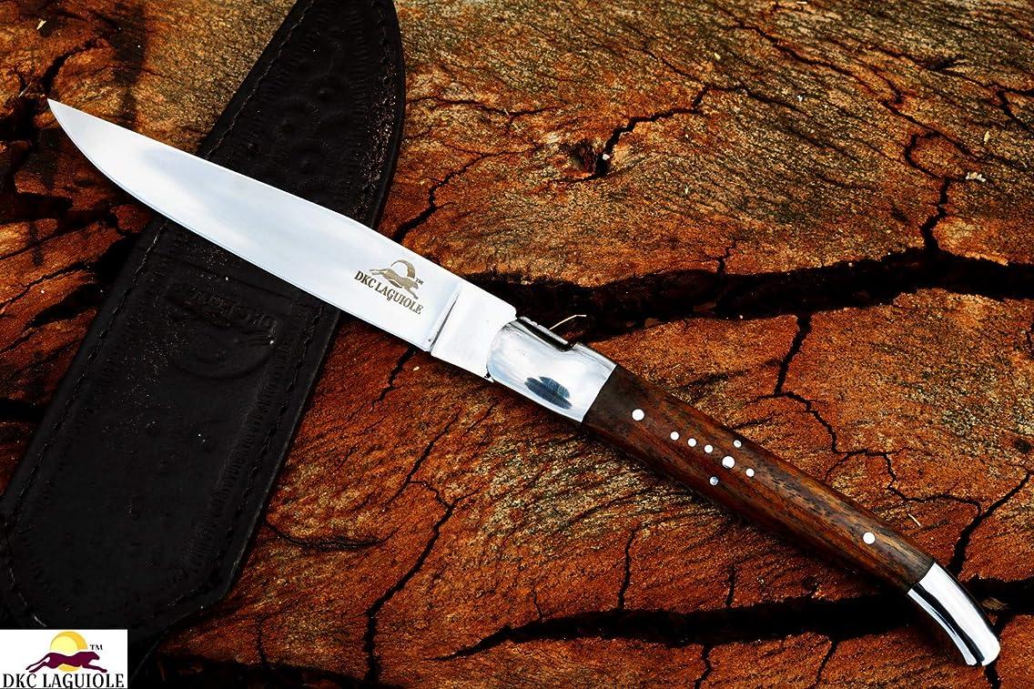 DKC Knives DKC-699-ST-RW-440c Rose Wood LAGUIOLE Steak Knife 440c Stainless Steel 9