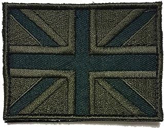 Mainly Metal Toppe forze e velcro (Style) ricamato patch nero & grigio Union Jack bandiera inglese distintivo