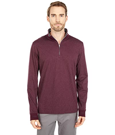 Robert Graham Triple Crown 1/4 Zip Sweater (Berry) Men